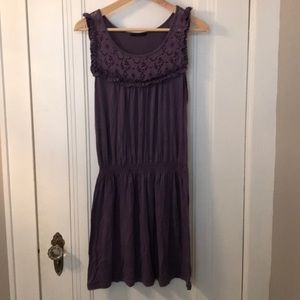 Purple Soprano dress with lace detail